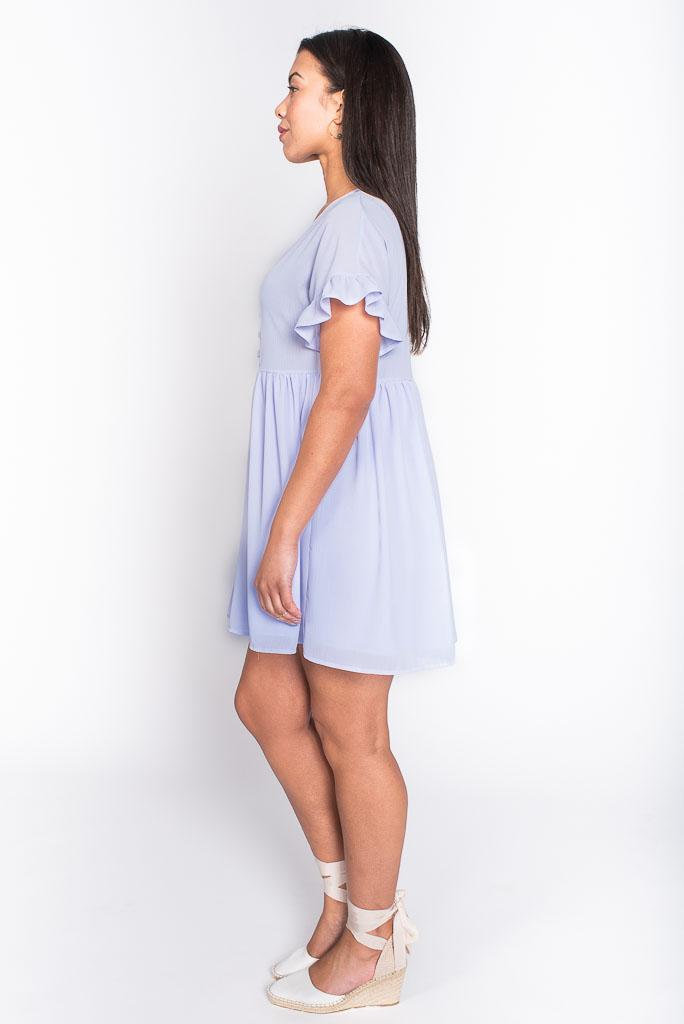 Spring lilac smock dress