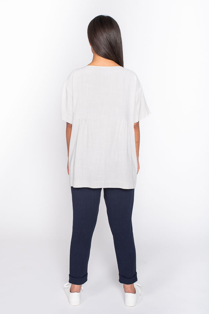 Soft grey linen top