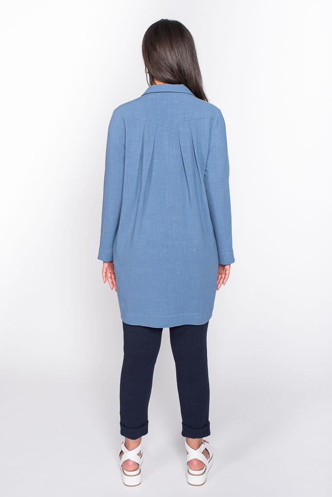 Comfortable blue linen top