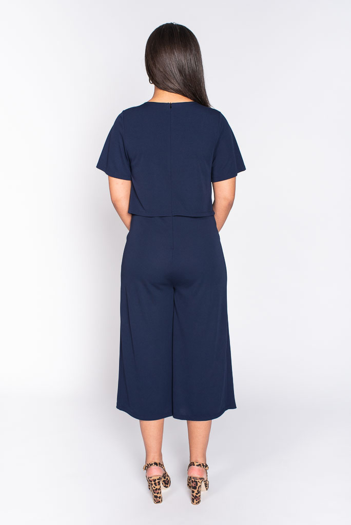 Navy jumpsuit back