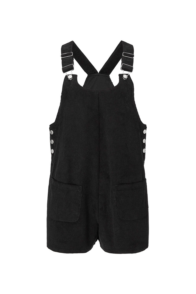 black corduroy jumpsuit