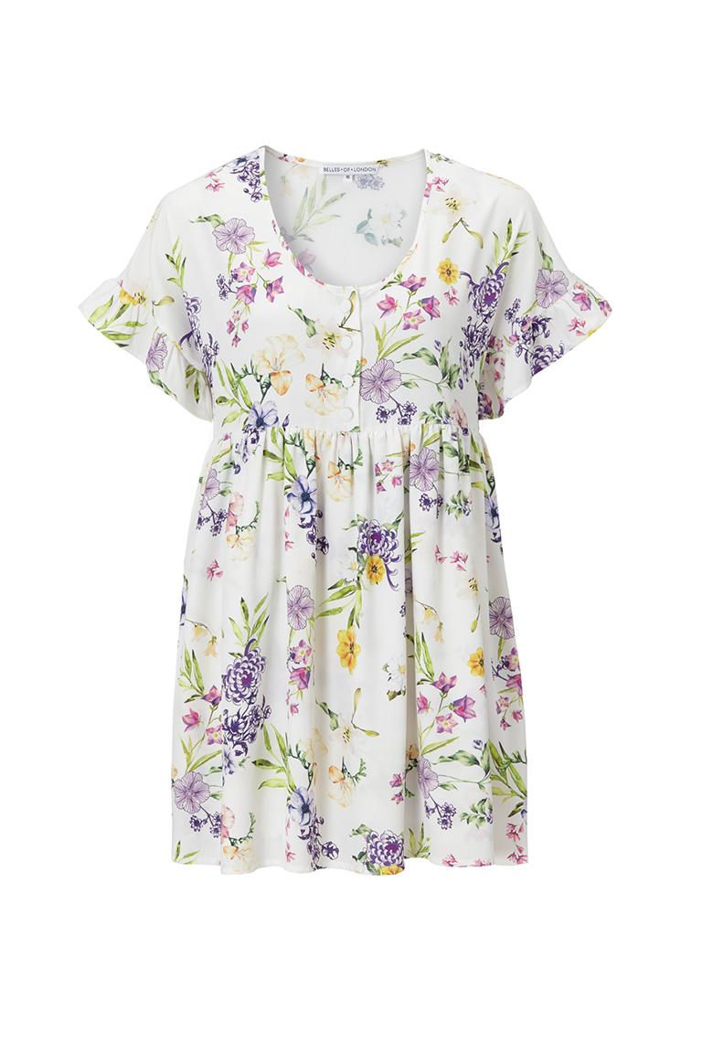 Spring floral smock dress