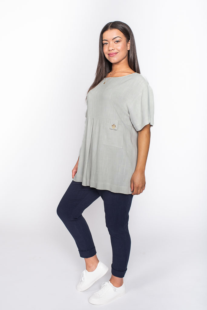 grey linen top side
