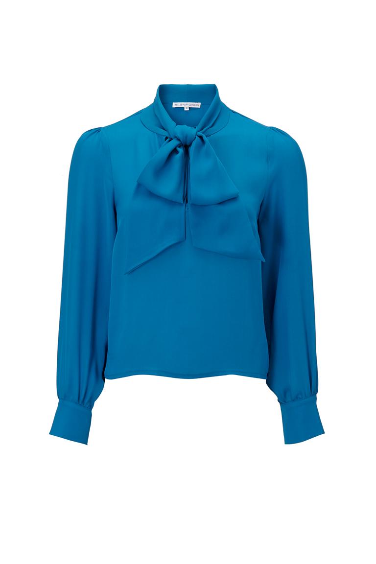 Teal chiffon shirt