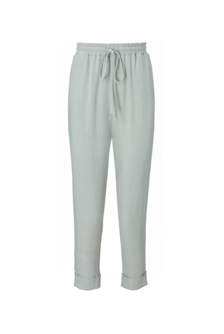 soft grey linen trousers