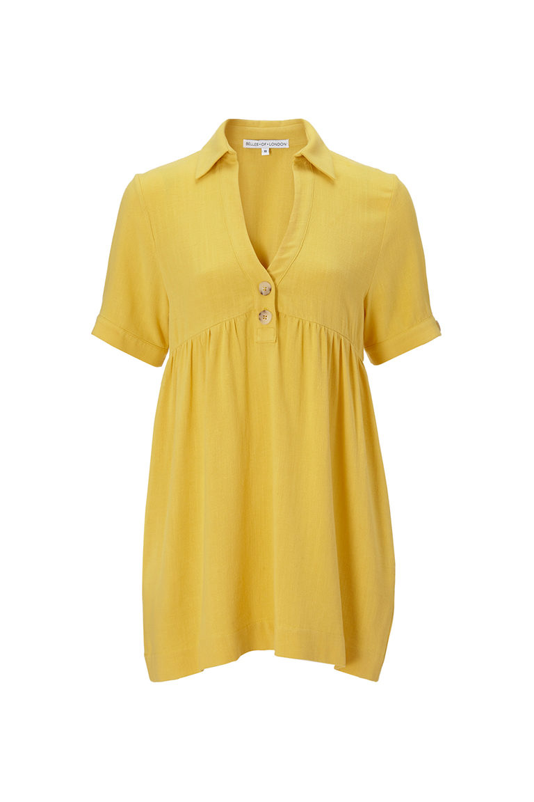 yellow linen top