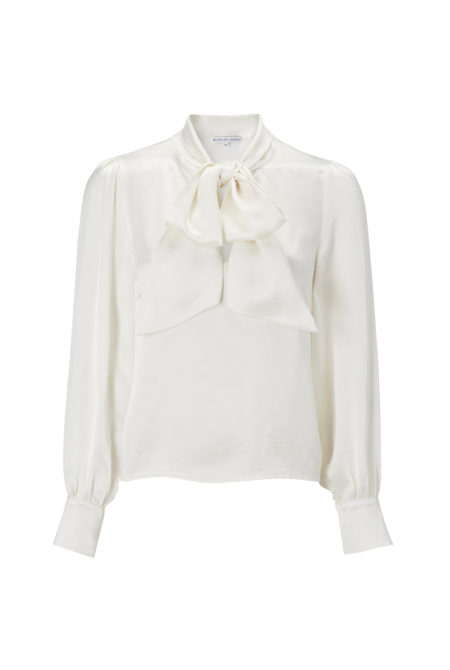 Ivory pussy bow shirt