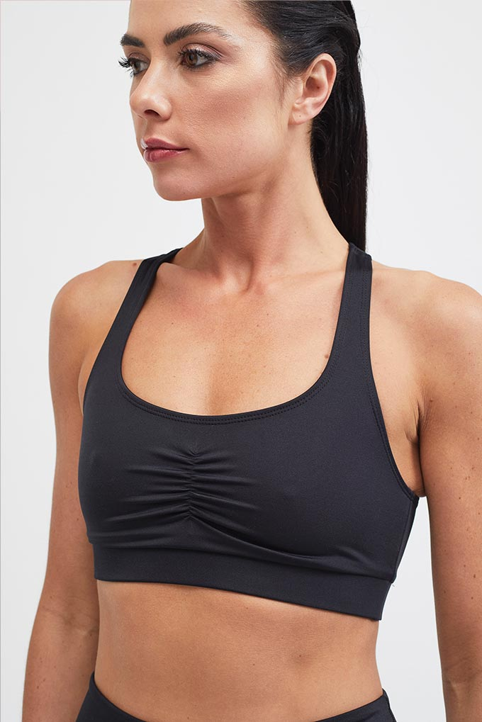 black sportswear close up