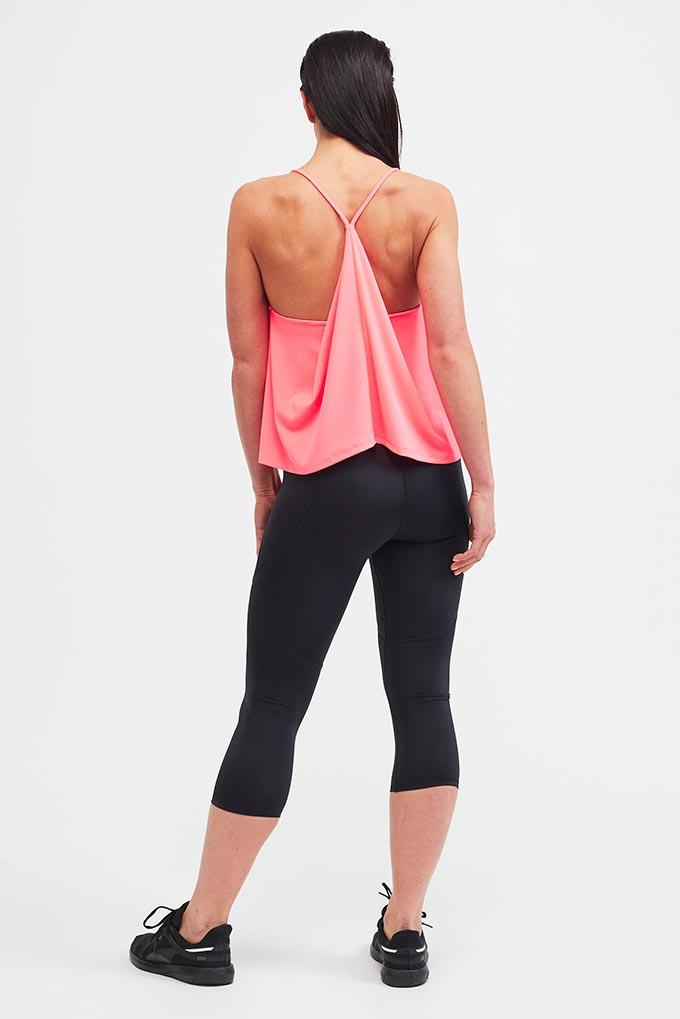 pink sports top back