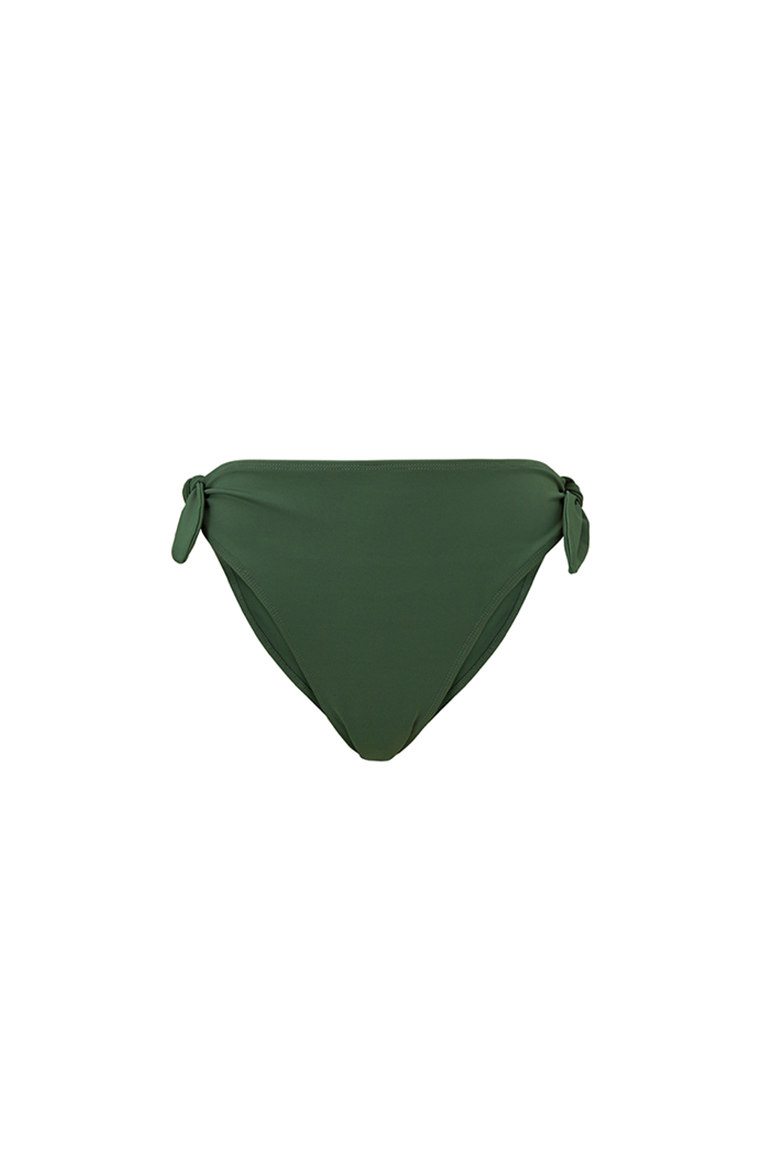 Khaki bikini bottom with ribbons