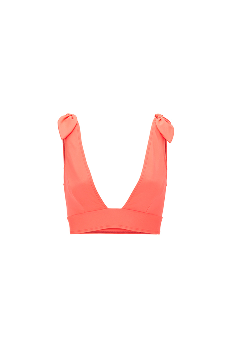 Lila orange plunge top
