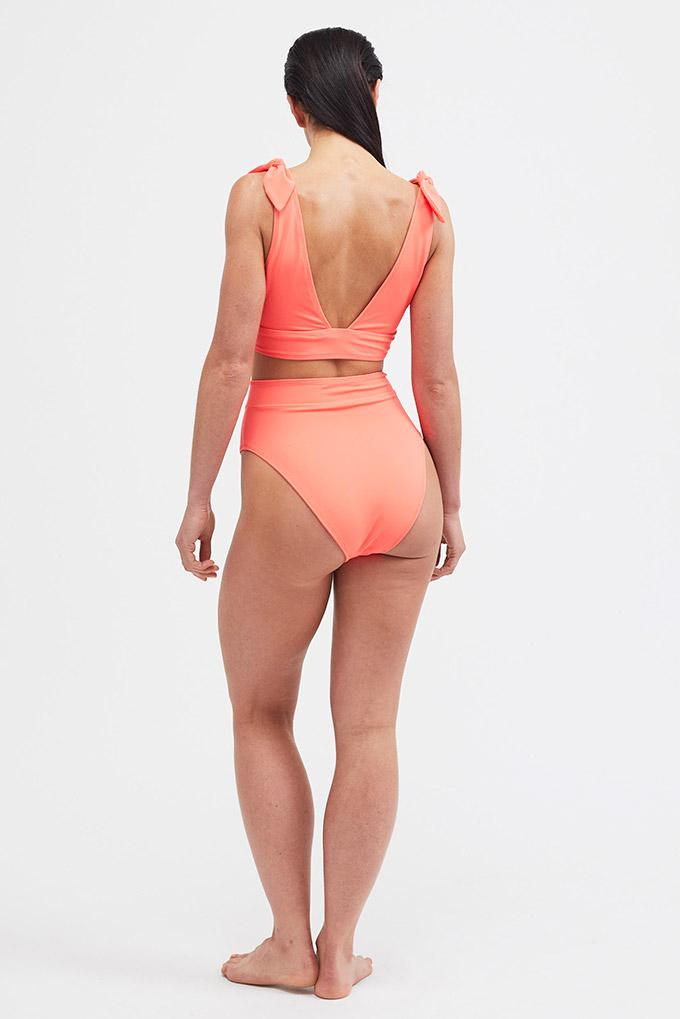 orange bikini back